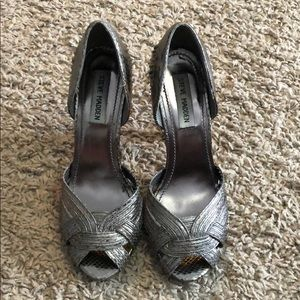 Steve Madden metallic heels.